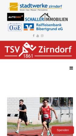 Vorschau der mobilen Webseite www.leichtathletik-zirndorf.de, Leichtathletik des TSV-Zirndorf