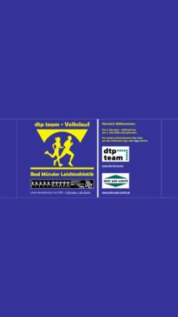 Vorschau der mobilen Webseite www.tuspobadmuender.de, Leichtathletikabteilung des Tuspo Bad Münder