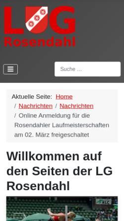 Vorschau der mobilen Webseite www.lg-rosendahl.de, Leichtathletik-Gemeinschaft Rosendahl