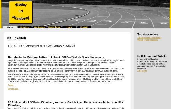 Vorschau von www.lgwedel-pinneberg.de, LG Wedel-Pinneberg