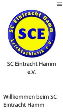 Vorschau der mobilen Webseite www.sce-hamm.de, SC Eintracht Hamm