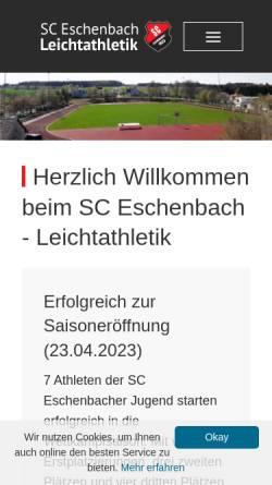 Vorschau der mobilen Webseite sce-la.de, SC-Eschenbach