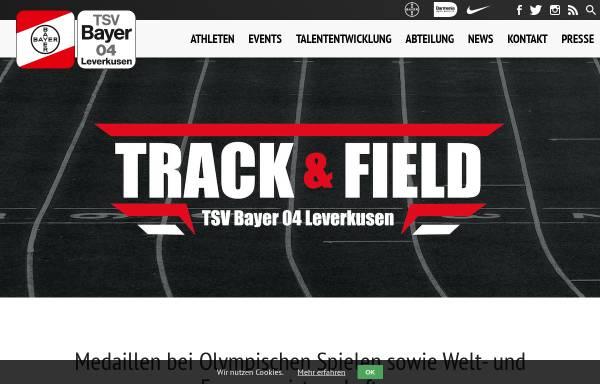 Vorschau von www.tsvbayer04-leichtathletik.de, TSV Bayer Leverkusen Leichtathletik