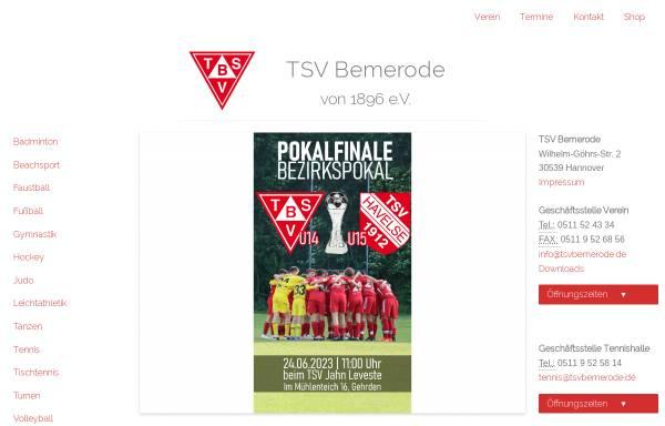Vorschau von www.tsvbemerode.de, TSV Bemerode