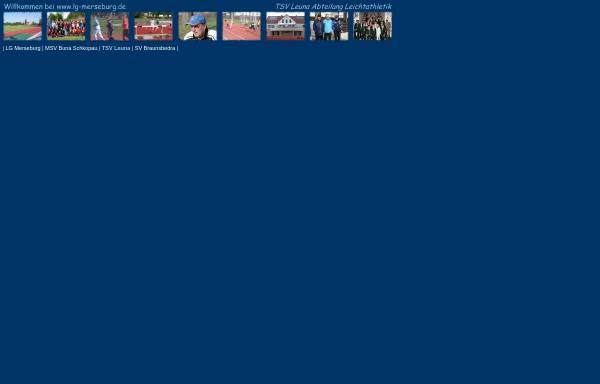 Vorschau von www.leunathletics.de, TSV Leuna Leichtathletik