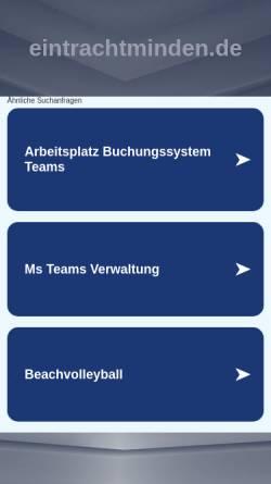 Vorschau der mobilen Webseite www.eintrachtminden.de, TuS Eintracht Minden, Abteilung Leichtathletik