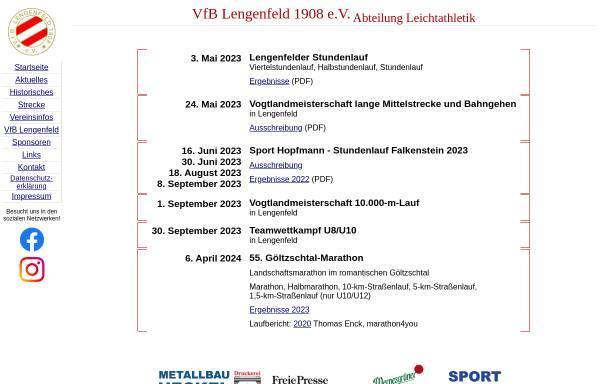 Vorschau von www.goeltzschtallauf.de, VfB Lengenfeld 1908 e.V.