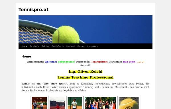 Vorschau von www.tennispro.at, Happy Tennistraining