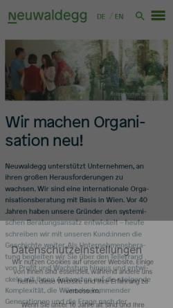 Vorschau der mobilen Webseite www.neuwaldegg.at, Beratergruppe Neuwaldegg Gesellschaft für Unternehmensberatung und Organisationsentwicklung GmbH
