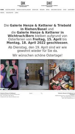 Vorschau der mobilen Webseite www.henze-ketterer.ch, Galerie Henze & Ketterer