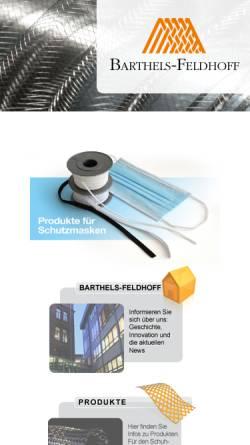 Vorschau der mobilen Webseite www.ringelspitz.de, Barthels-Feldhoff GmbH & Co. Textilwerke