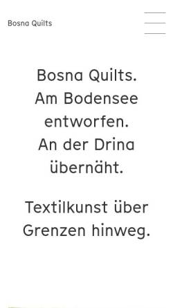 Vorschau der mobilen Webseite www.bosnaquilt.at, Bosna Quilt Werkstatt