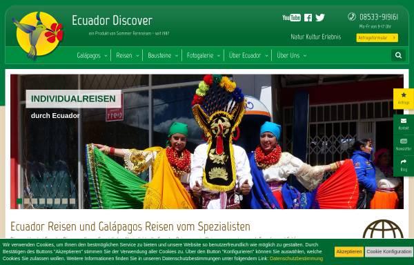 Vorschau von www.ecuador-discover.de, Ecuador Discover