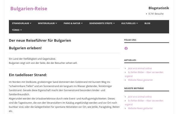 Vorschau von www.bulgarien-reise.de, Bulgarien-Reiseführer
