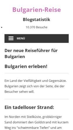 Vorschau der mobilen Webseite www.bulgarien-reise.de, Bulgarien-Reiseführer