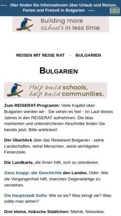 Vorschau der mobilen Webseite www.reiserat.de, Reise Rat