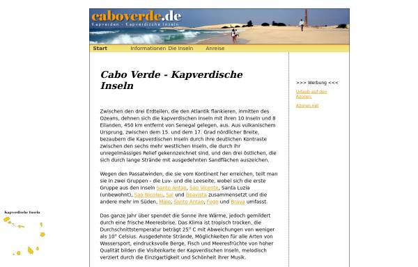 Vorschau von www.caboverde.de, Caboverde.de
