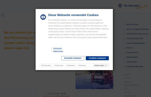 Vorschau von www.muerwiker.de, Mürwiker Werkstätten GmbH