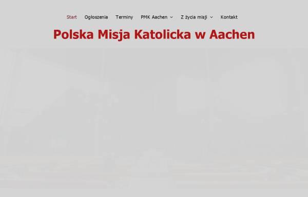 Vorschau von www.pmk-aachen.de, Polnische Katholische Mission Aachen (Polska Misja Katolicka)