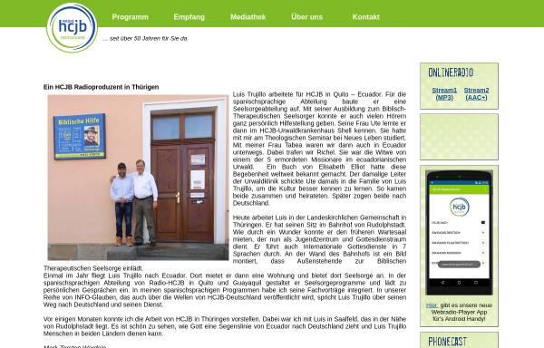 Vorschau von www.hcjb.de, Radio HCJB