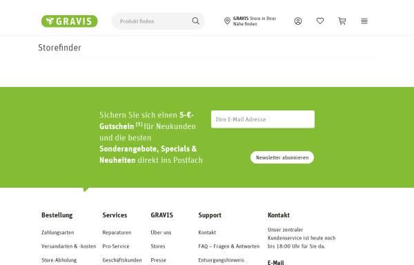Vorschau von www.gravis.de, Gravis Computervertriebsgesellschaft mbH