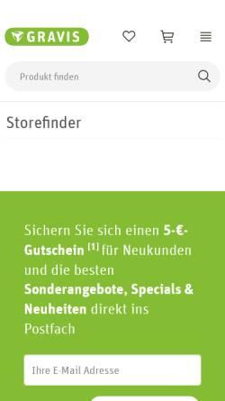 Vorschau der mobilen Webseite www.gravis.de, Gravis Computervertriebsgesellschaft mbH