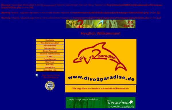 Vorschau von diving.unstoppable.de, Gerd und Chris: Dive2Paradise