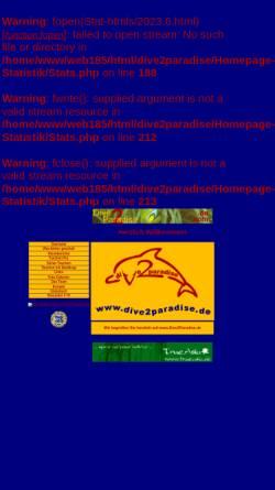 Vorschau der mobilen Webseite diving.unstoppable.de, Gerd und Chris: Dive2Paradise