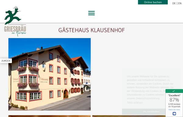 Vorschau von www.klausenhof-murnau.de, Klausenhof Hotel am Park