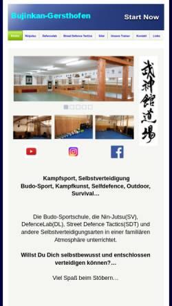 Vorschau der mobilen Webseite www.bujinkan-gersthofen.de, Bujinkan Dojo Gersthofen