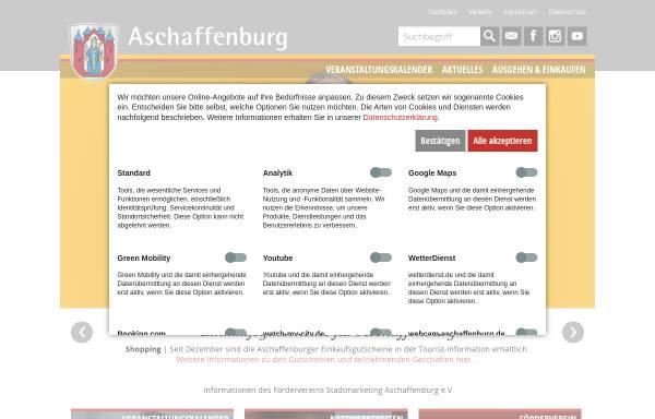 Vorschau von www.info-aschaffenburg.de, Förderverein Stadtmarketing Aschaffenburg