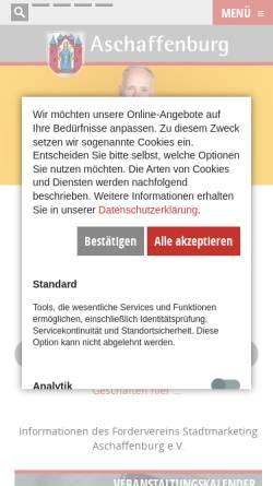 Vorschau der mobilen Webseite www.info-aschaffenburg.de, Förderverein Stadtmarketing Aschaffenburg