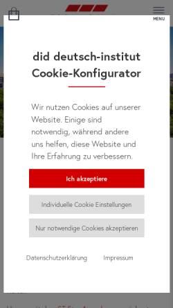 Vorschau der mobilen Webseite www.did.de, did deutsch-institut berlin
