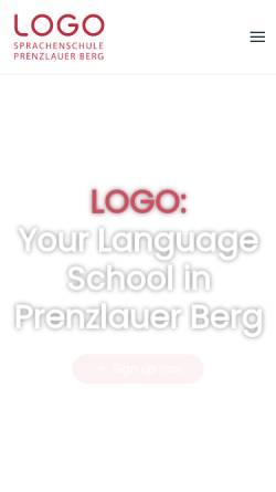 Vorschau der mobilen Webseite www.logosprachenschule.de, Logo Sprachschule in Berlin