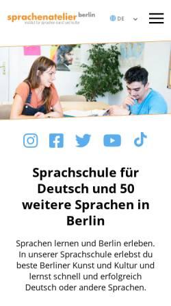 Vorschau der mobilen Webseite www.sprachenatelier-berlin.de, Sprachenatelier Berlin e.V.