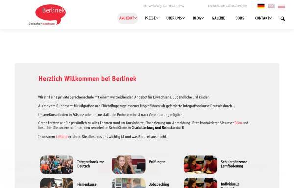 Vorschau von www.berlinek.de, Sprachenzentrum Berlinek