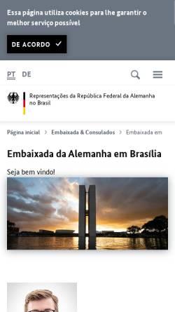 Vorschau der mobilen Webseite www.brasilia.diplo.de, Deutsche Botschaft