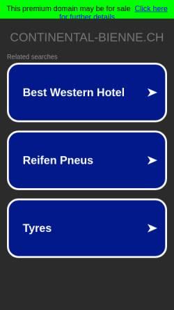 Vorschau der mobilen Webseite www.continental-bienne.ch, Hotel Continental