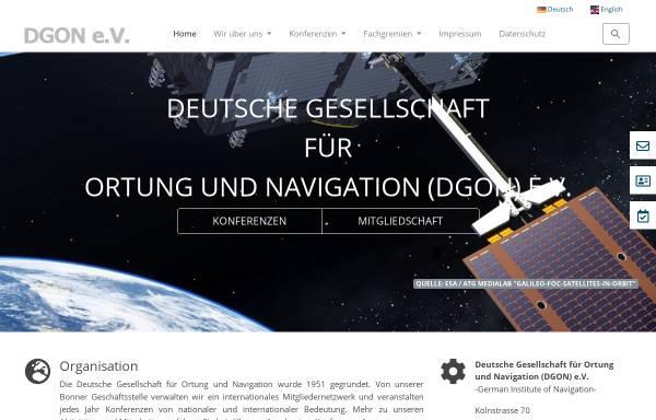 Vorschau von www.dgon.de, Deutsche Gesellschaft für Ortung und Navigation e.V. (DGON)