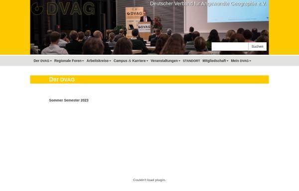 Vorschau von geographie-dvag.de, DVAG - Deutscher Verband für Angewandte Geographie