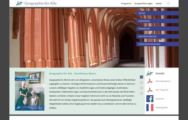 Vorschau von www.geographie-fuer-alle.de, Geographie für Alle