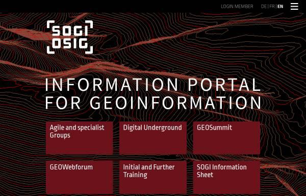 Vorschau von www.sogi.ch, Schweizerische Organisation für Geo-Information (SOGI OSIG)