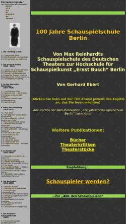 Vorschau der mobilen Webseite www.berliner-schauspielschule.de, 100 Jahre Schauspielschule Berlin