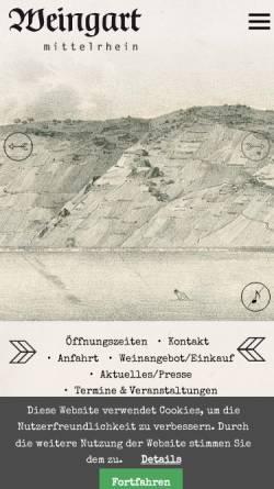 Vorschau der mobilen Webseite www.weingut-weingart.de, Weingut Weingart