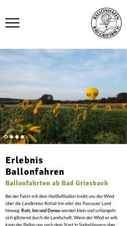 Vorschau der mobilen Webseite www.ballonhafen.de, Ballonhafen