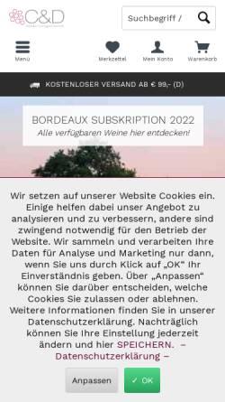 Vorschau der mobilen Webseite www.c-und-d.de, C & D GmbH