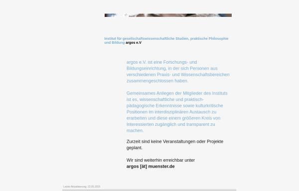 Vorschau von www.muenster.org, Forschungs- und Bildungsinstitut ARGOS e.V.