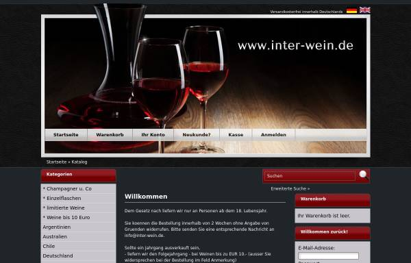 Inter-Wein, Martin Rudolf: Wein, Getränke inter-wein.de