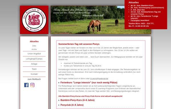 Vorschau von www.reitclub-st-georg.de, Reitclub St. Georg zu Bremen e.V.