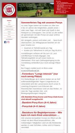 Vorschau der mobilen Webseite www.reitclub-st-georg.de, Reitclub St. Georg zu Bremen e.V.